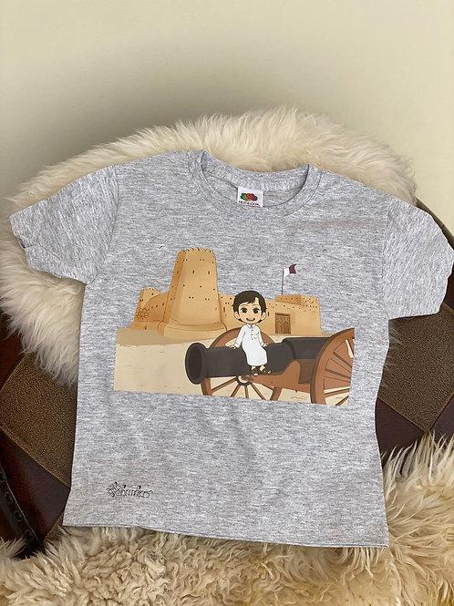 Grey Al Zubarah T-Shirt