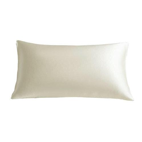 White Pure Mulberry Silk Grade 6A Beauty Pillow Case - Size: 51X76cm