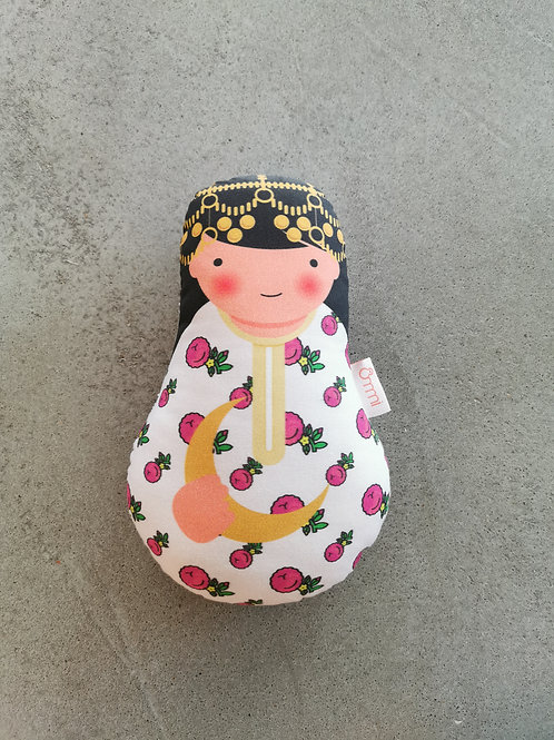 Ommi Doll Lady With Crescent Moon - Small