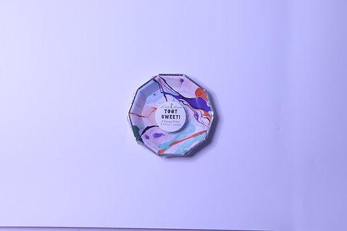 Marble Canape Mini Plates - 8 Plates