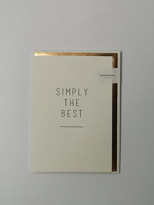 Simply The Best - Blank Inside