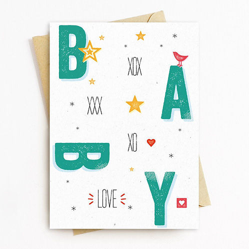 Baby Greeting Card - Blank Inside