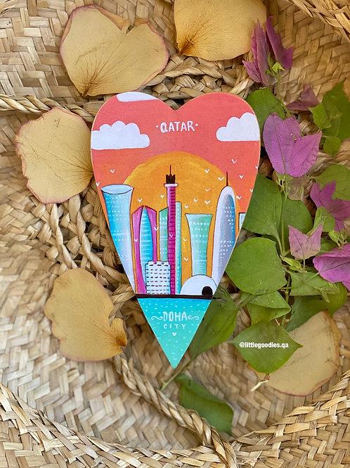 Qatar Heart Shaped Magnets In Doha Skyscraper