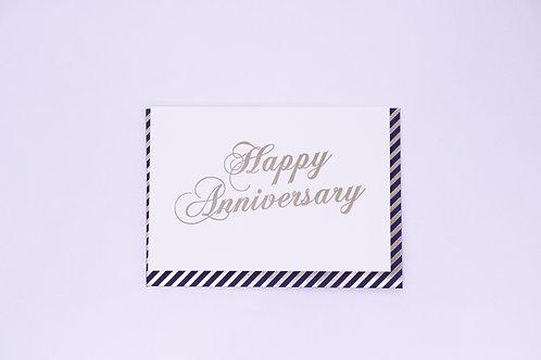 Happy Anniversary Greeting Card - Blank Inside