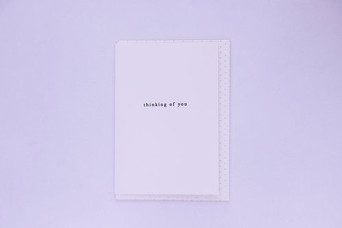 Thinking Of You Greeting Card - Blank Inside