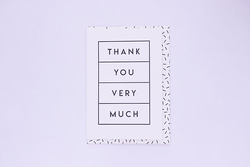 Thank You Very Much Greeting Card - Blank  Inside