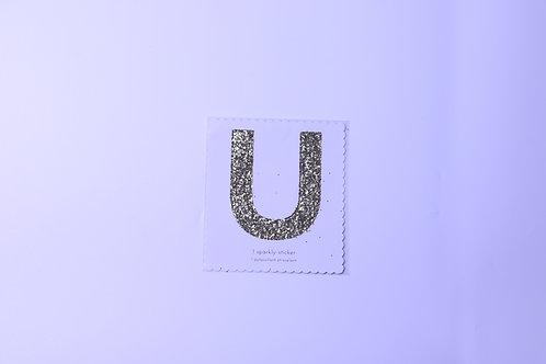 Letter U Chunky Gold Sticker