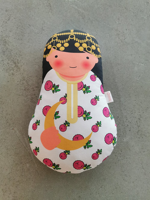 Ommi Doll Lady With Crescent Moon - Large
