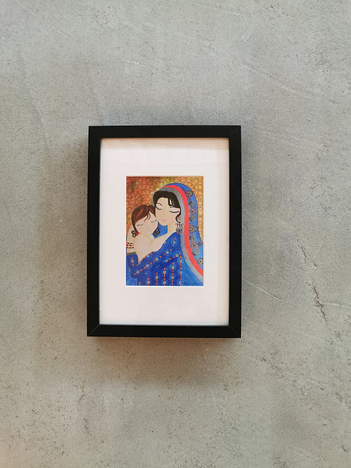 Mother & Daughter Framed Art Print