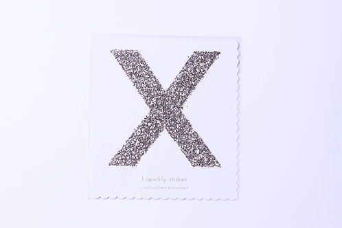 Letter X Chunky Gold Sticker