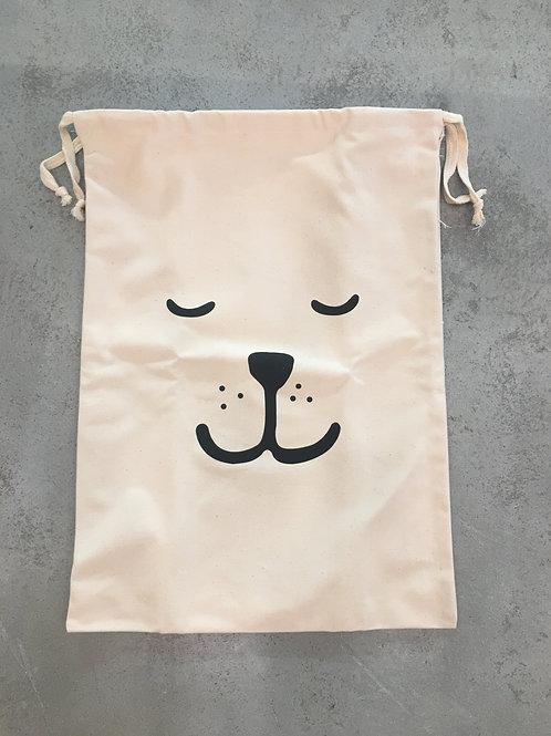 Sleeping Bear Fabric Bag - Large - 48x64cm