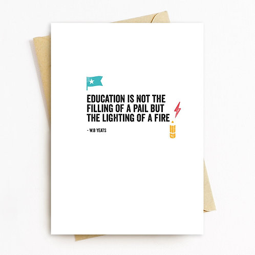 Education Greeting Card - Blank Inside