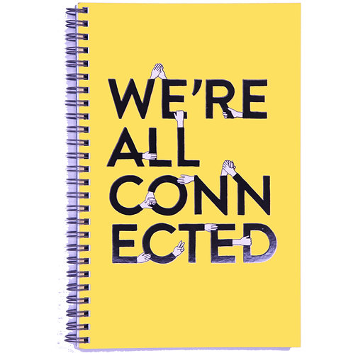 Connected Spiral Lined Notebook - A5, 100 Pages