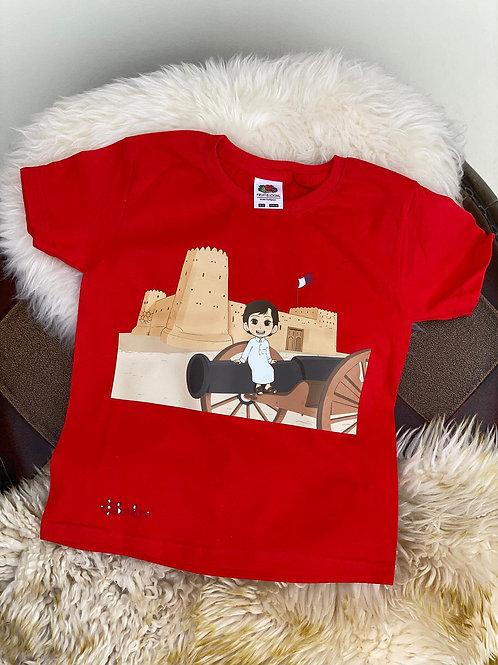 Red Al Zubarah T-Shirt