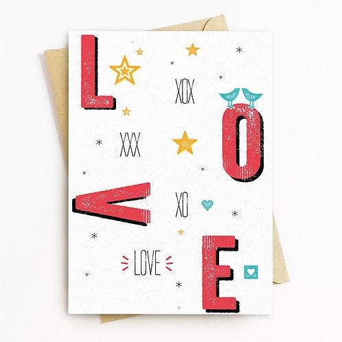 Love Greeting Card - Blank Inside