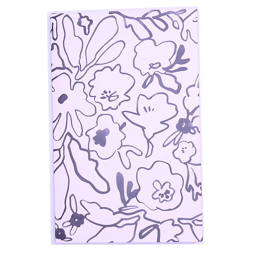 Messy Flower A5 Lined Journal - 100 Pages