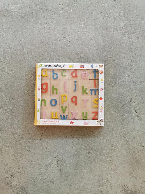 Wooden Teaching Alphabet