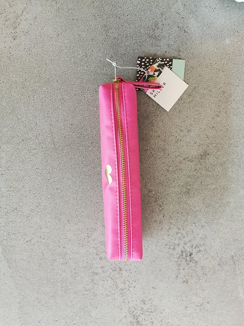 Pink Heart Slim Pencil Case
