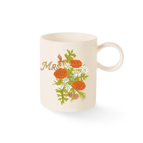 Floral Mrs. Mug