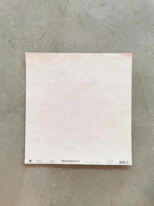 Pleasant Peonies Basic Glitter Paper