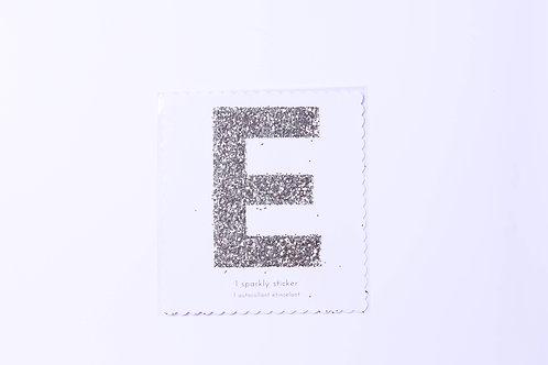 Letter  E Chunky Gold Sticker