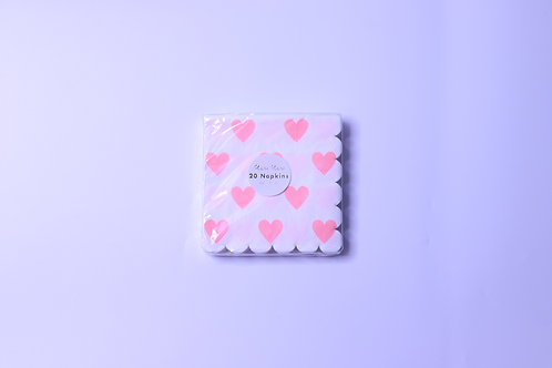 Heart Small Napkins- 20 Napkins