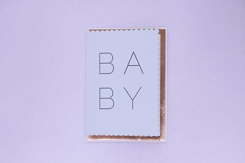 Welcome Baby Boy Greeting Card -Blank Inside
