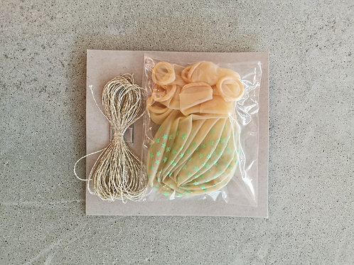 Mint Green Star Balloons- 8 Pieces