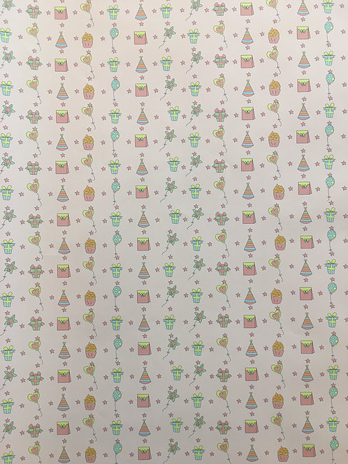 Biryhday Icon Wrapping Paper - Size: 1Meter