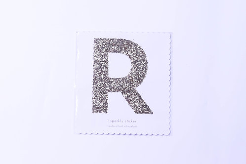 Letter R Chunky Gold Sticker