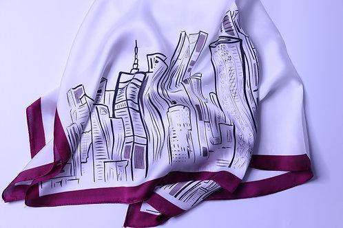 Doha Skyline Scarf - Size: 70X70Cm