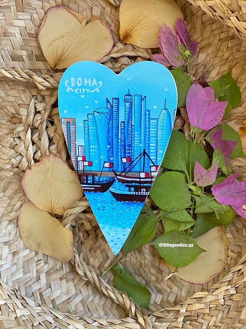 Qatar Heart Shaped Magnets In Corniche