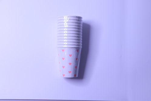 Heart Party Cups- 12 Cups