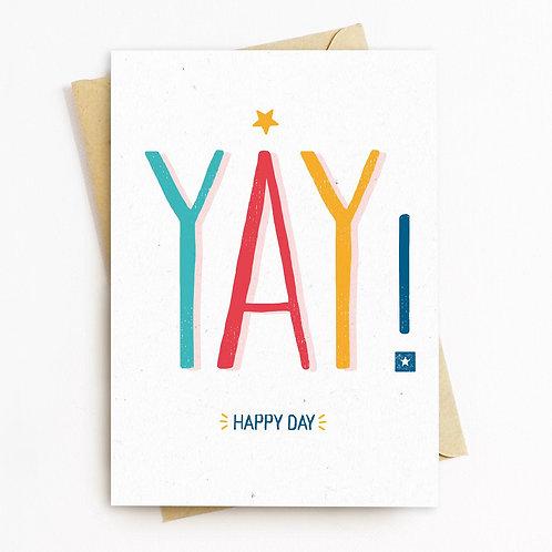 YAY Greeting Card - Blank Inside