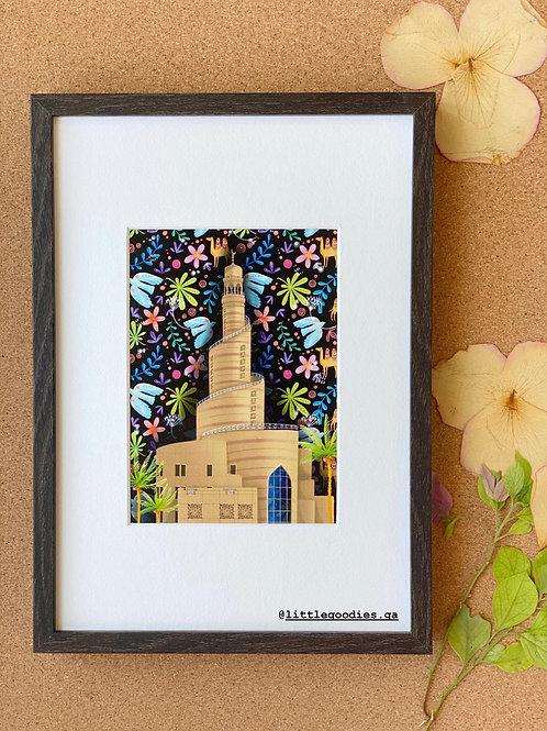 Fanar Framed Art Print - A4