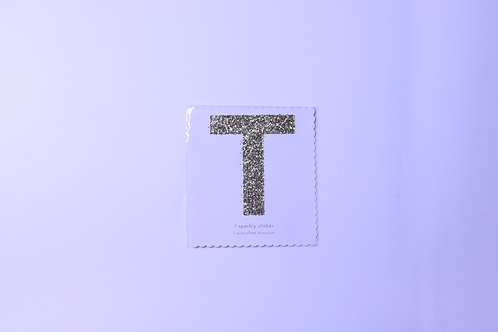 Letter T Chunky Gold Sticker