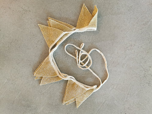 Gold Knitted Cloth Garland
