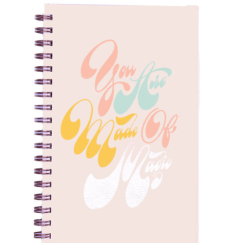 Made Of Magic Spiral Lined Notebook - A5, 160 Pages