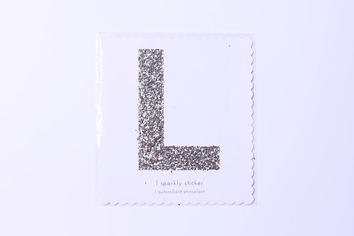 Letter L Chunky Gold Sticker