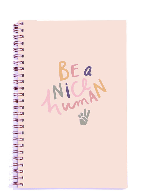 Nice Human Spiral Lined Notebook - A5, 100 Pages