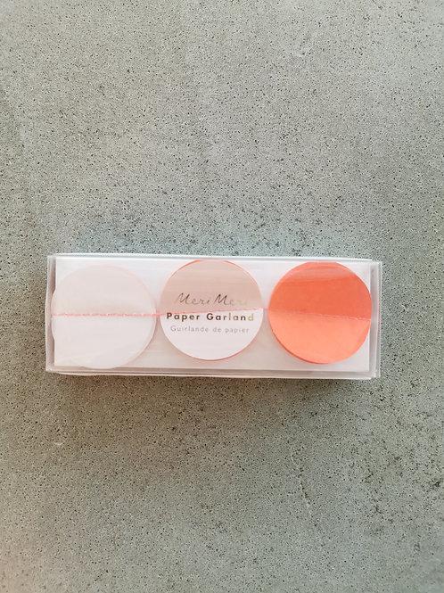 Pink Paper Garland- 3ft,3x91cm