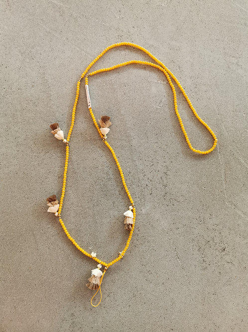 Yellow Tassel Mobile Chain