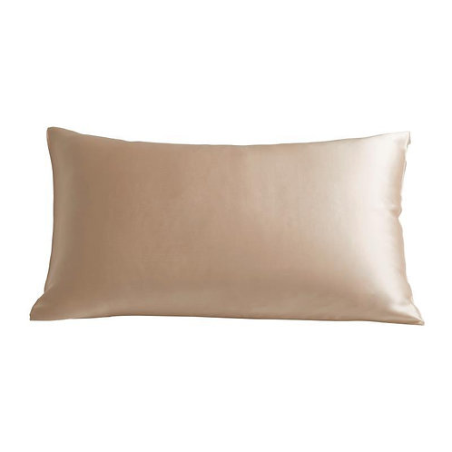 Champagne Pure Mulberry Silk Grade 6A Beauty Pillow Case - Size: 51X76cm