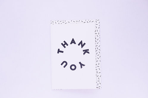 Thank You Greeting Card - Blank Inside