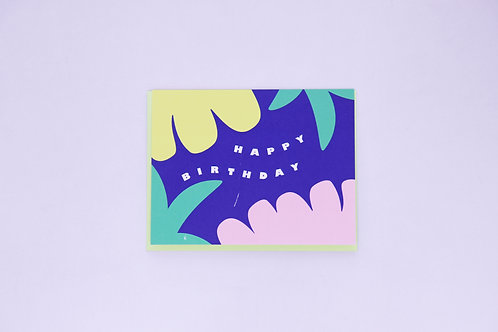 Happy Birthday Greeting Card - Blank Inside