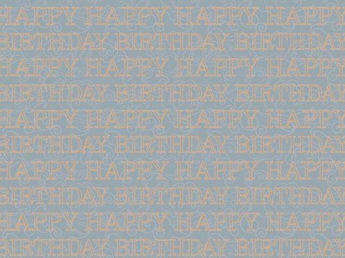 Happy Birthday In Grey Wrapping Paper - 50*70CM