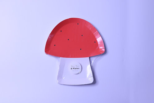 Toadstool Party Plates- 8 Plates