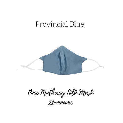 Provincial Blue Mulberry Silk Face Mask