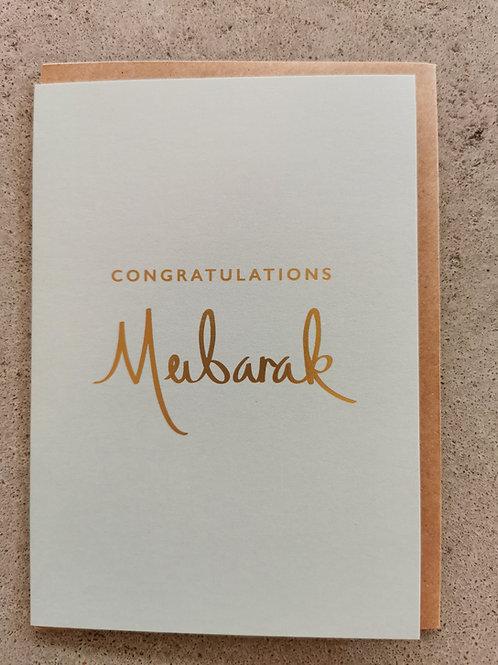 Congratulations Mubarak