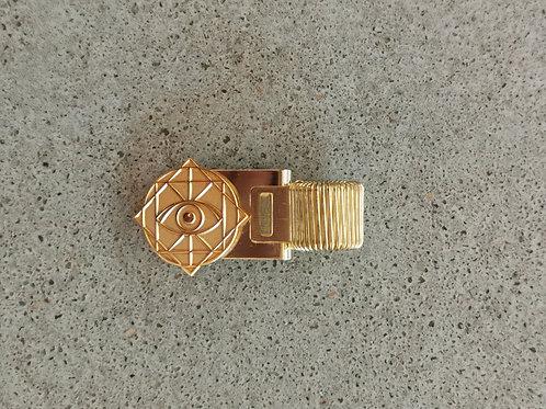 Rama Eye Brass Gold Metal Book Mark